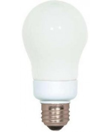 Satco S7282 Satco 7 Watt 120 Volt A19 E26 Medium Base 4100K 10,000 Hour Eco-Friendly A-Type Compact Fluorescent Lamp (CFL)