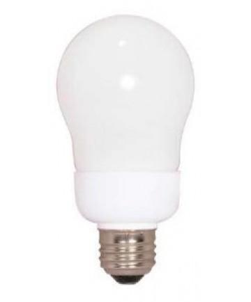 Satco S5571 Satco 9 Watt 120 Volt A19 E26 Medium Base 5000K 10,000 Hour Eco-Friendly A-Type Compact Fluorescent Light Bulb (CFL)