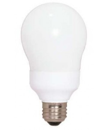 Satco S7288 Satco 11 Watt 120 Volt A19 E26 Medium Base 4100K 10,000 Hour Eco-Friendly A-Type Compact Fluorescent Lamp (CFL)