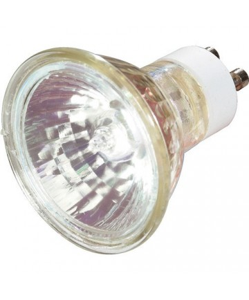 Satco S3502 Satco 50MR16/GU10/FL 50 Watt 120 Volt MR16 GU10 Twist Lock Base Flood Halogen Lamp