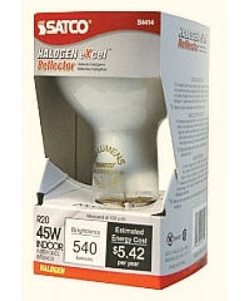 Satco S4514 Satco Light Bulbs 45R20/FL/HAL/120V   R20   45W   E26 Medium  Base   70 Degree Beam ...