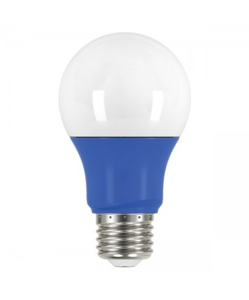 Satco S9644 2A19/LED/BLUE/120V Satco 2 Watt A19 LED Blue