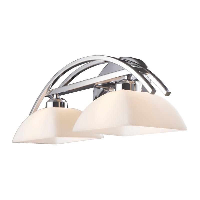 Elk lighting 10031 2 arches 2 light vanity in polished chrome for Elk bathroom lighting