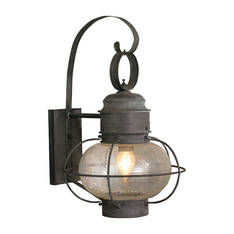 Lighting 5762C Sag Harbor 1 Light Wall Lantern in Charcoal with