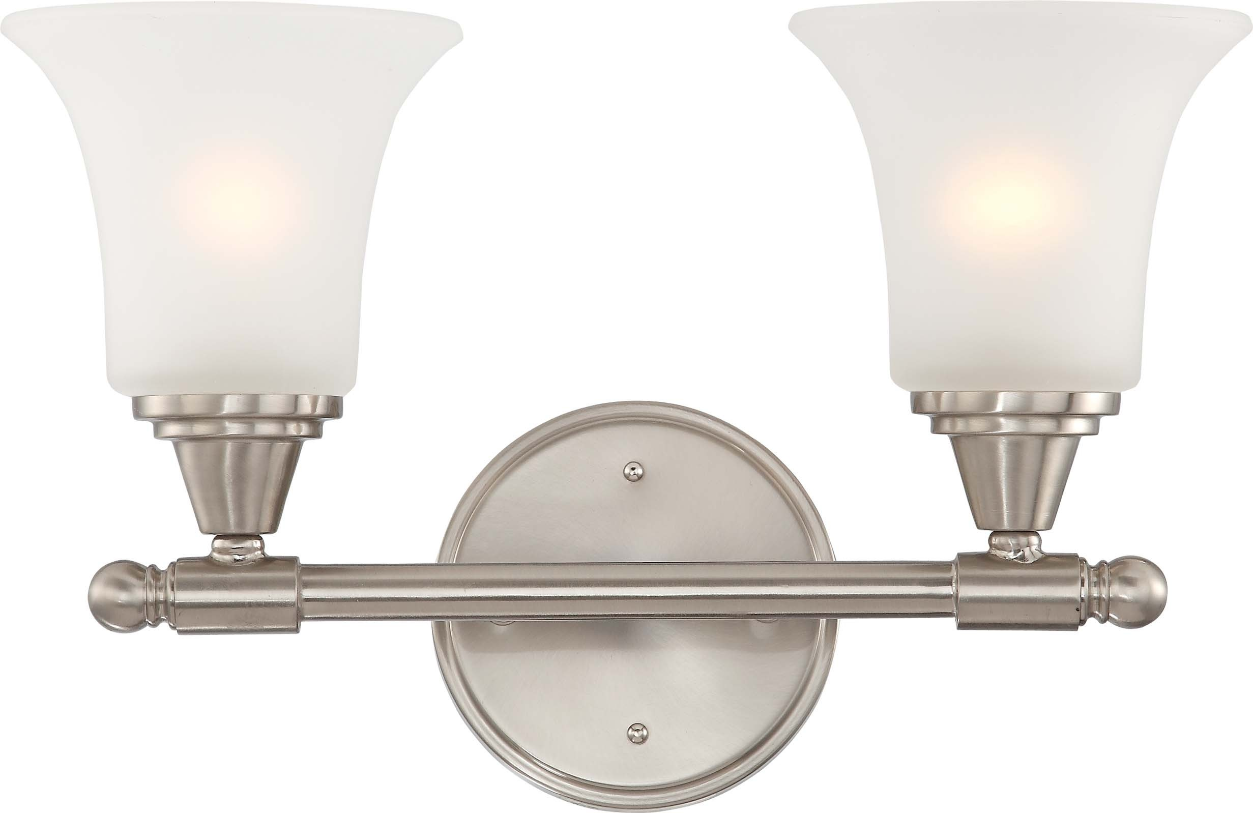 Nuvo Lighting 60/4142 Surrey 2 Light Vanity Fixture with Frosted Glass