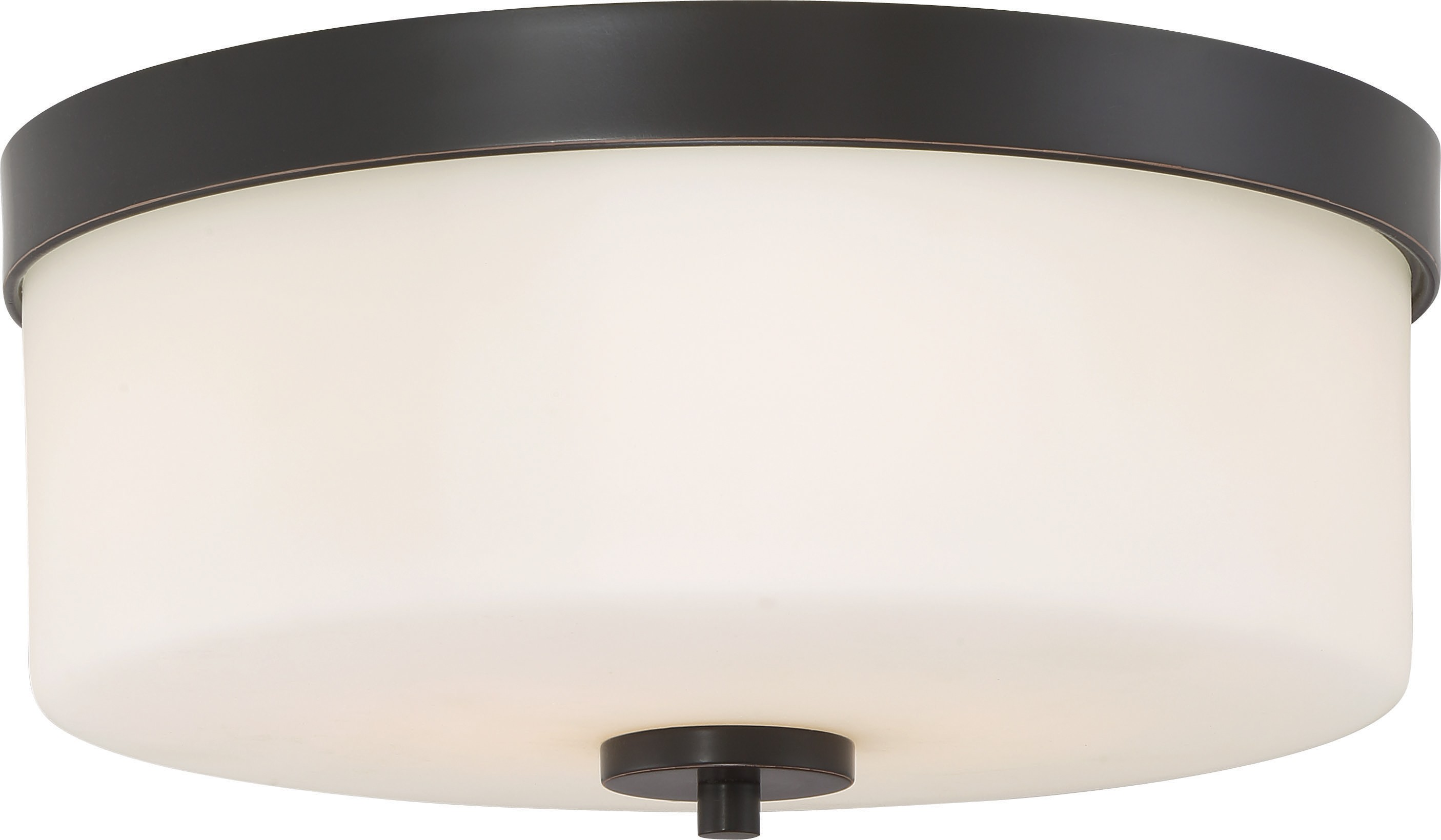 Nuvo Lighting 60 6331 Denver 2 Light Flush Mount Fixture Mahogany
