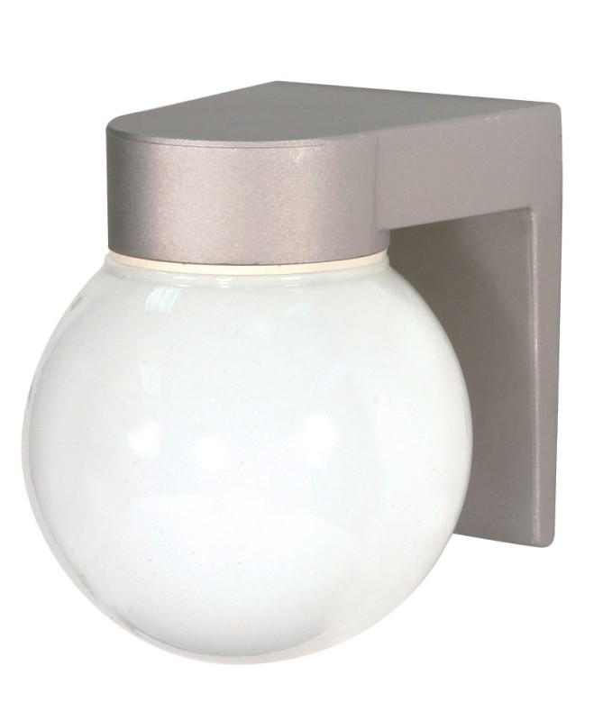 Nuvo Lighting 77 139 1 Light 8 Inch Utility Wall Mount With White Glass Globe