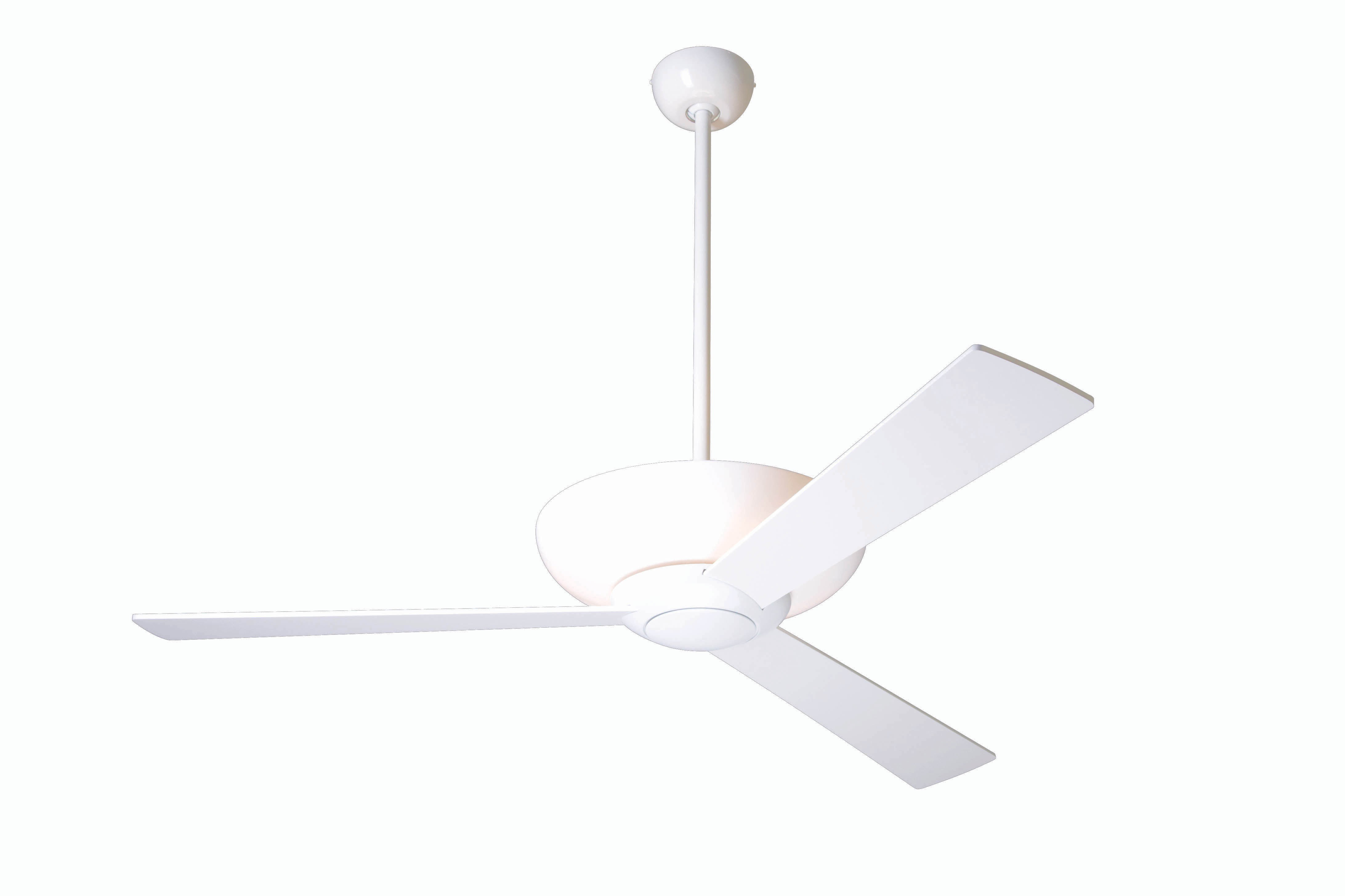 Modern fan company aur gw 42 wh nc aurora gloss white ceiling fan - Modern white ceiling fan ...