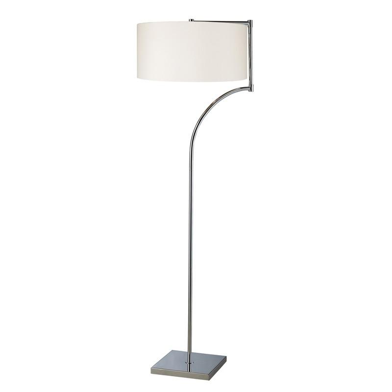Dimond lighting d1832 lancaster floor lamp in chrome with for Milano chrome floor lamp