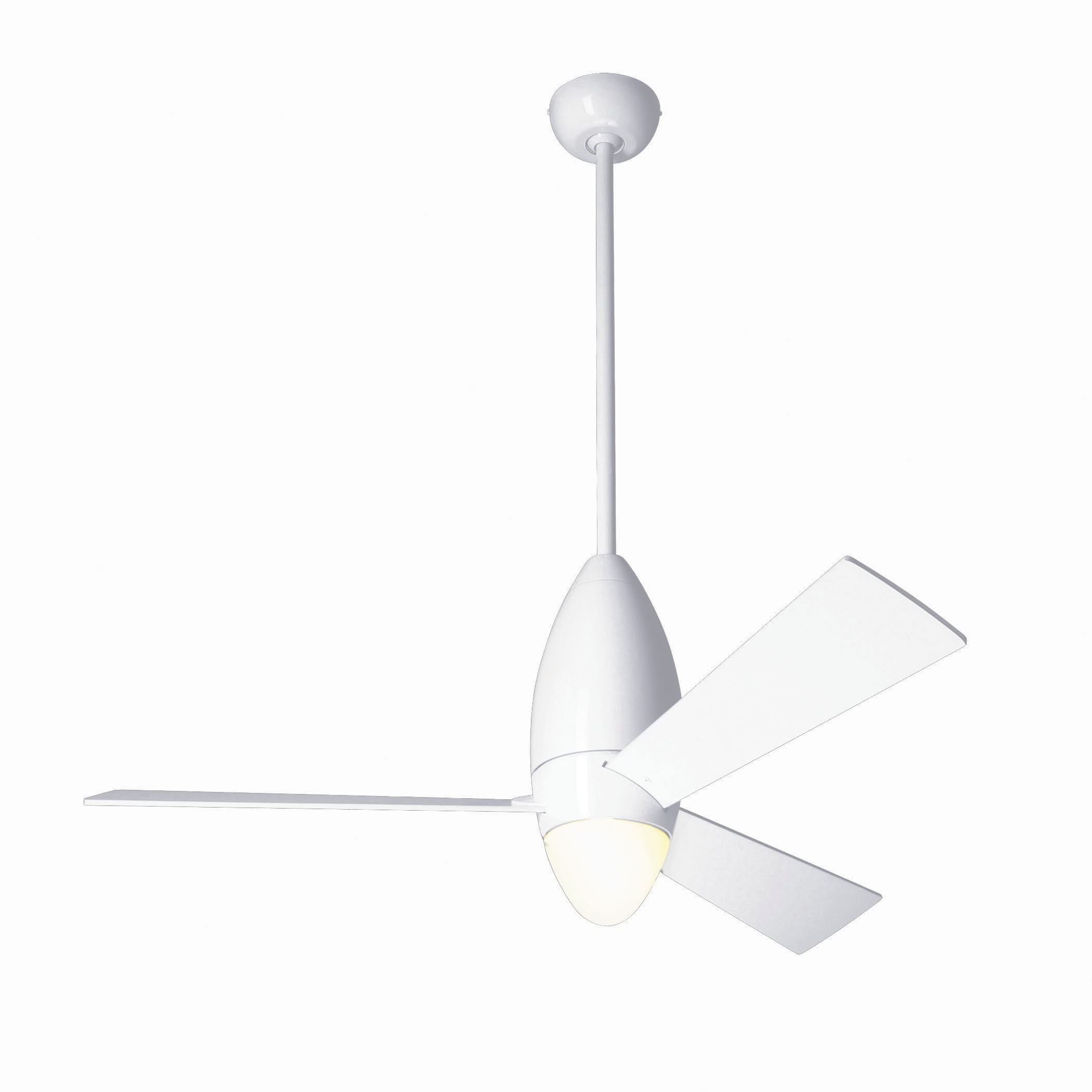 Modern fan company dcs gw 52 wh es dcr dc slim gloss white ceiling fan - Modern white ceiling fan ...