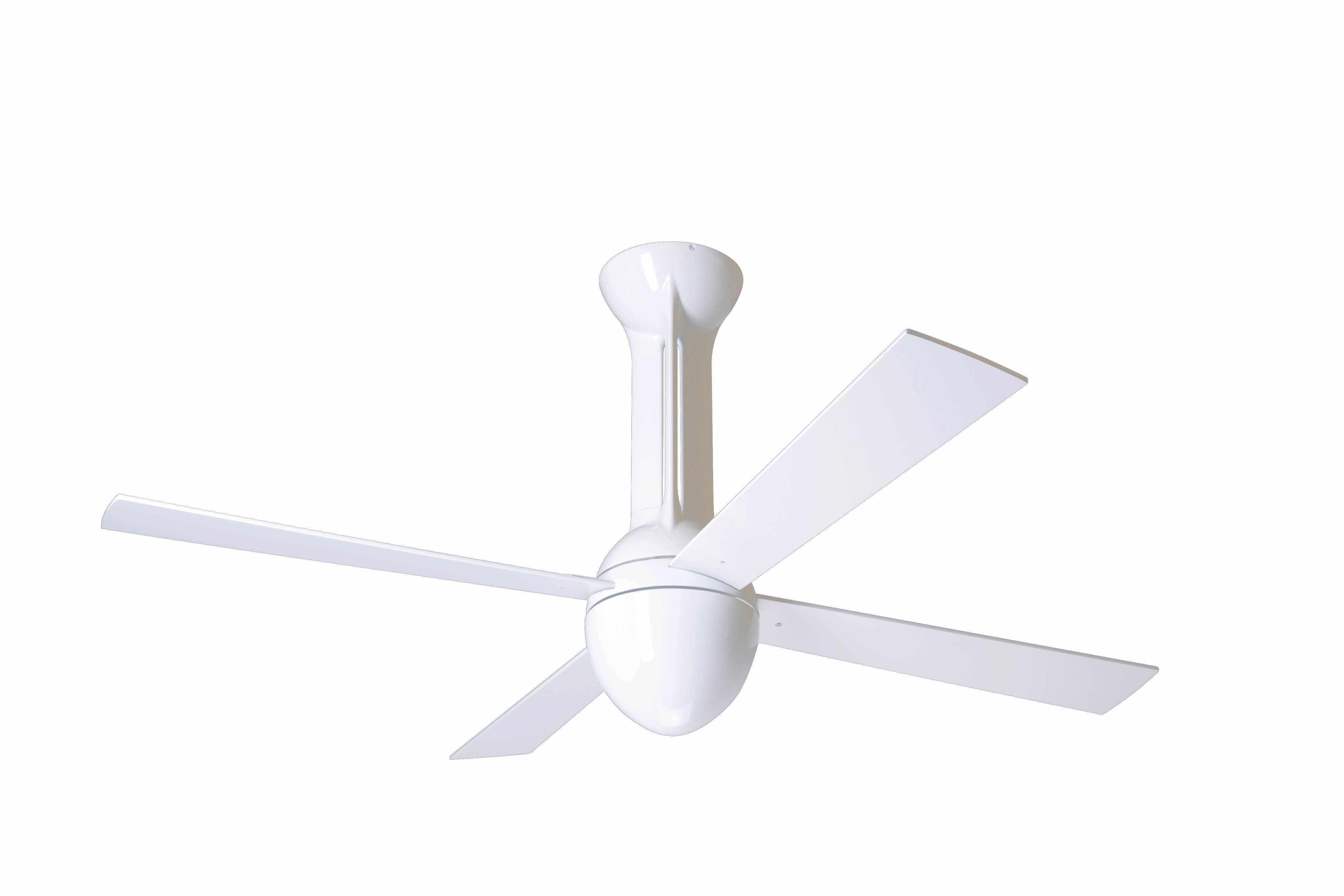 Modern fan company ecl gw 42 wh nl 001 eclipse gloss white ceiling fan - Modern white ceiling fan ...