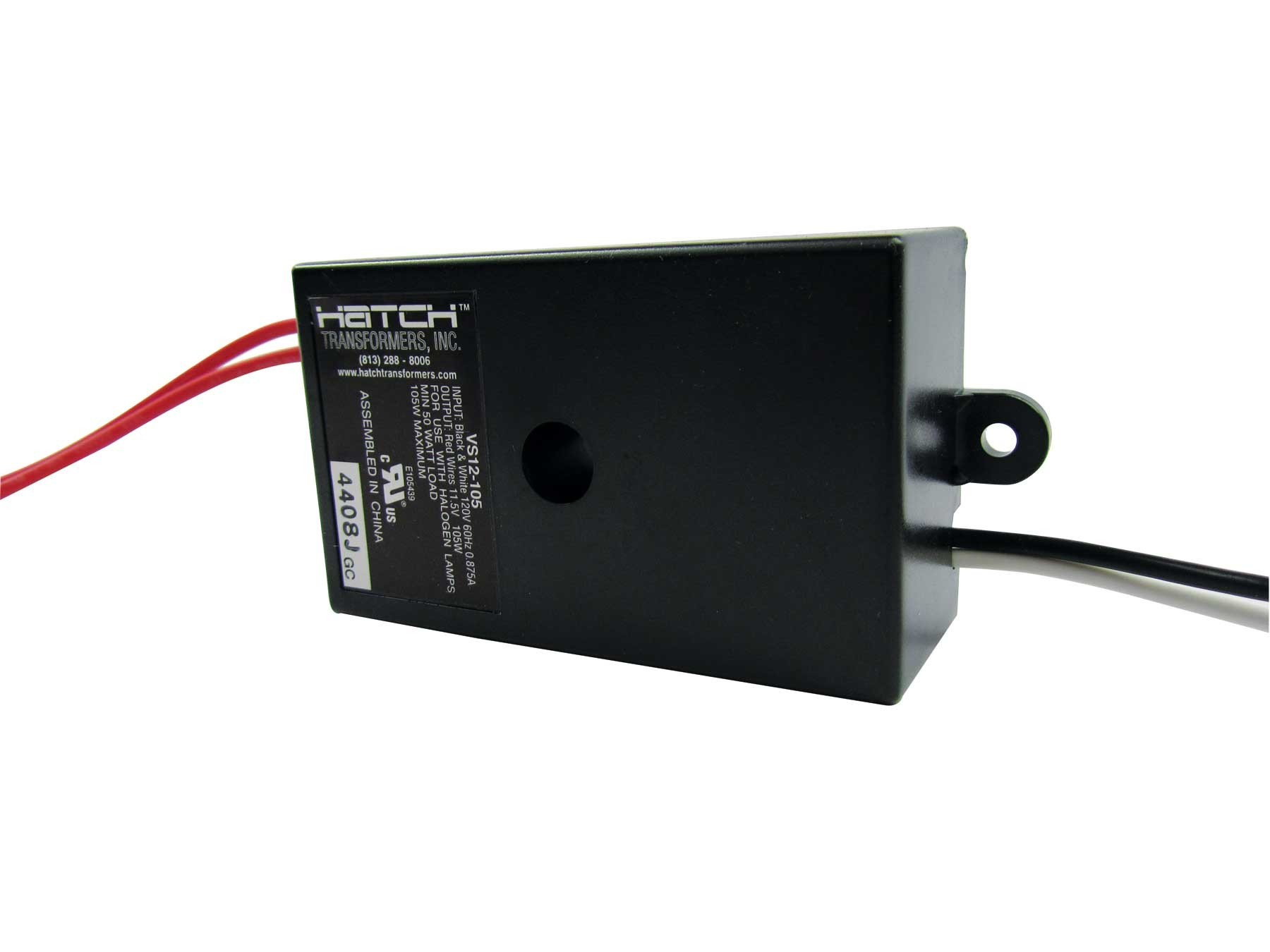 Hatch Transformers VS12-150JNW - 150W - 120V to 12V - With Feet - Leads Out Both Side - Electronic Low Voltage Transformer  sc 1 st  Lighting 2 Light Bulbs : low voltage transformer wiring - yogabreezes.com