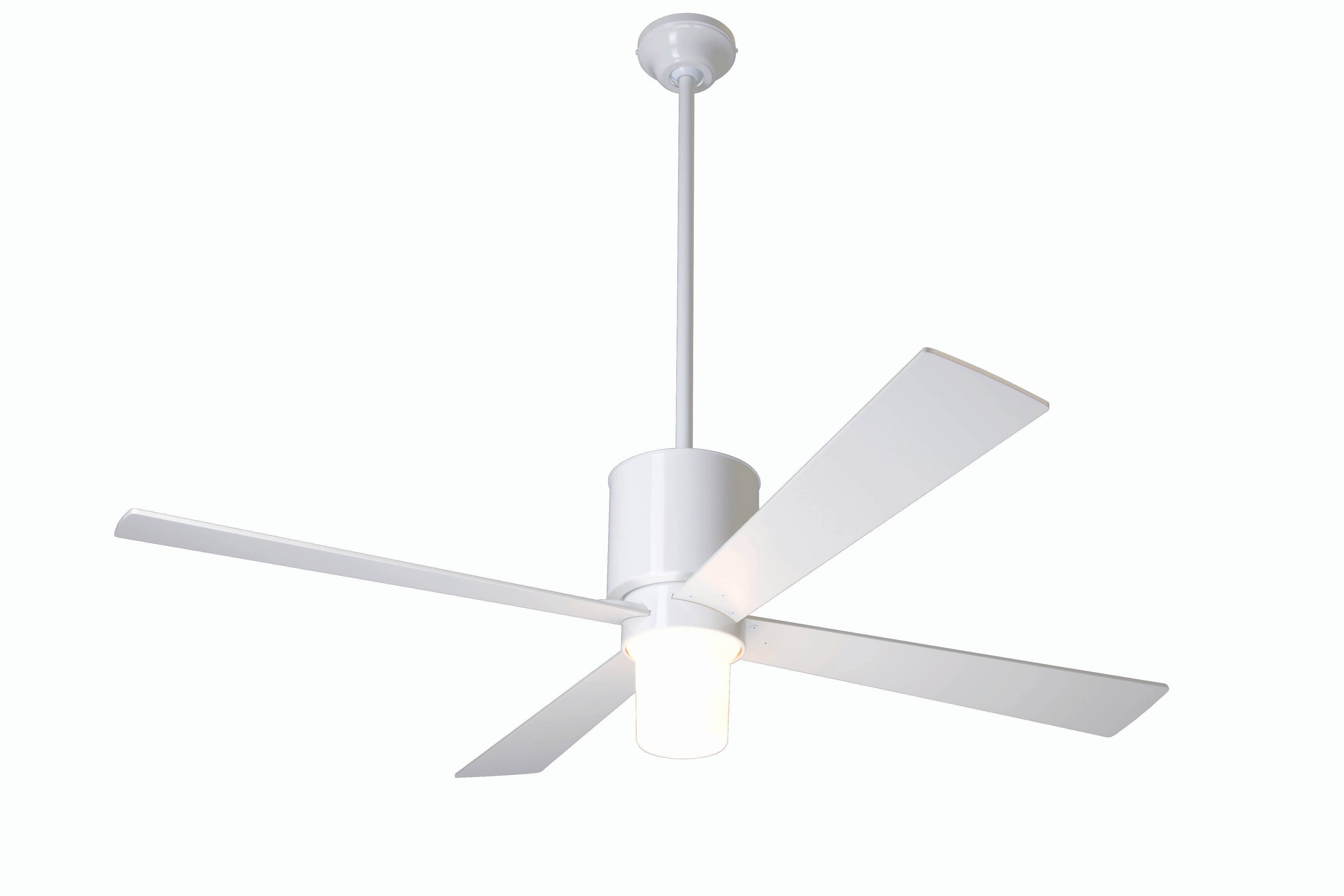 Modern fan company lap gw 52 wh 551 005 lapa gloss white ceiling fan - Modern white ceiling fan ...