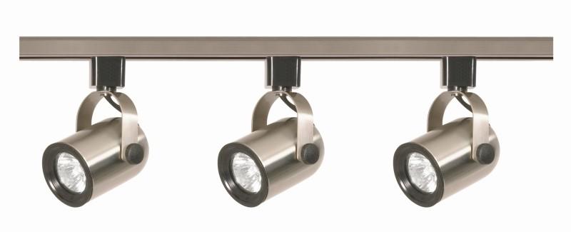 Nuvo Lighting TK354 Nuvo 3 Light Brush Nickel MR16 Track Lighting