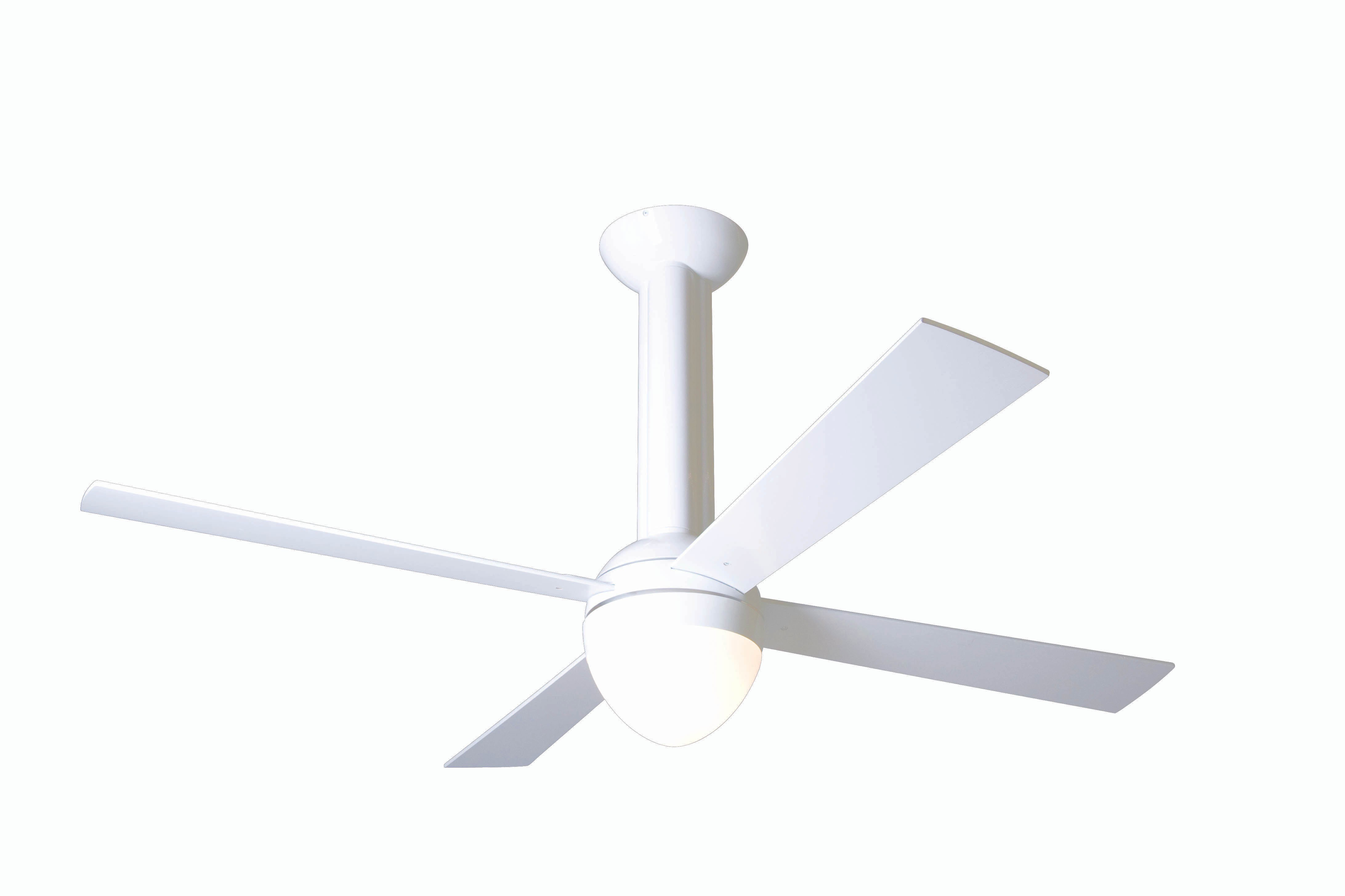 Modern fan company str gw 52 mp 650 004 stratos gloss white ceiling fan - Modern white ceiling fan ...