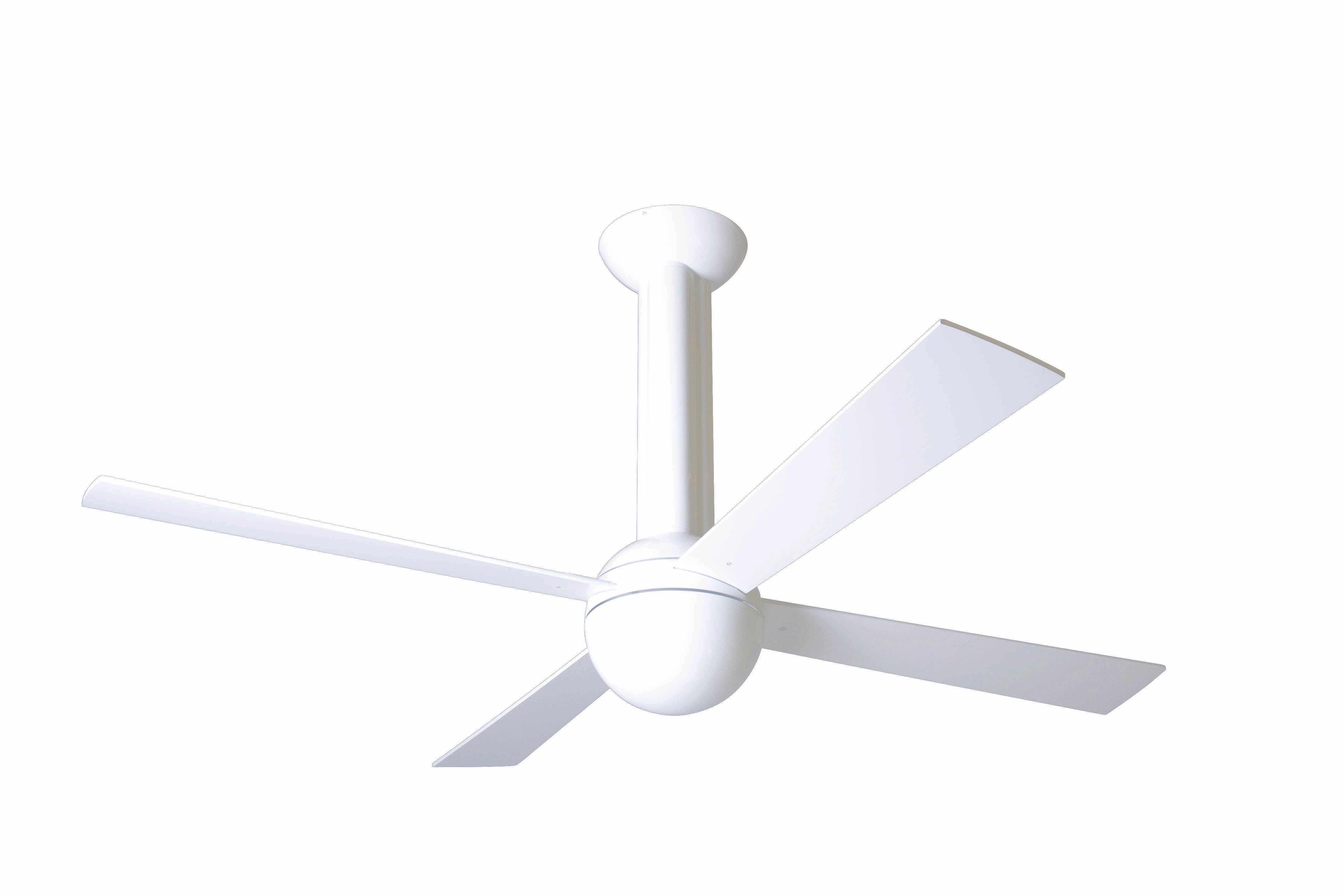 Modern fan company str gw 52 wh nl 003 stratos gloss white ceiling fan - Modern white ceiling fan ...