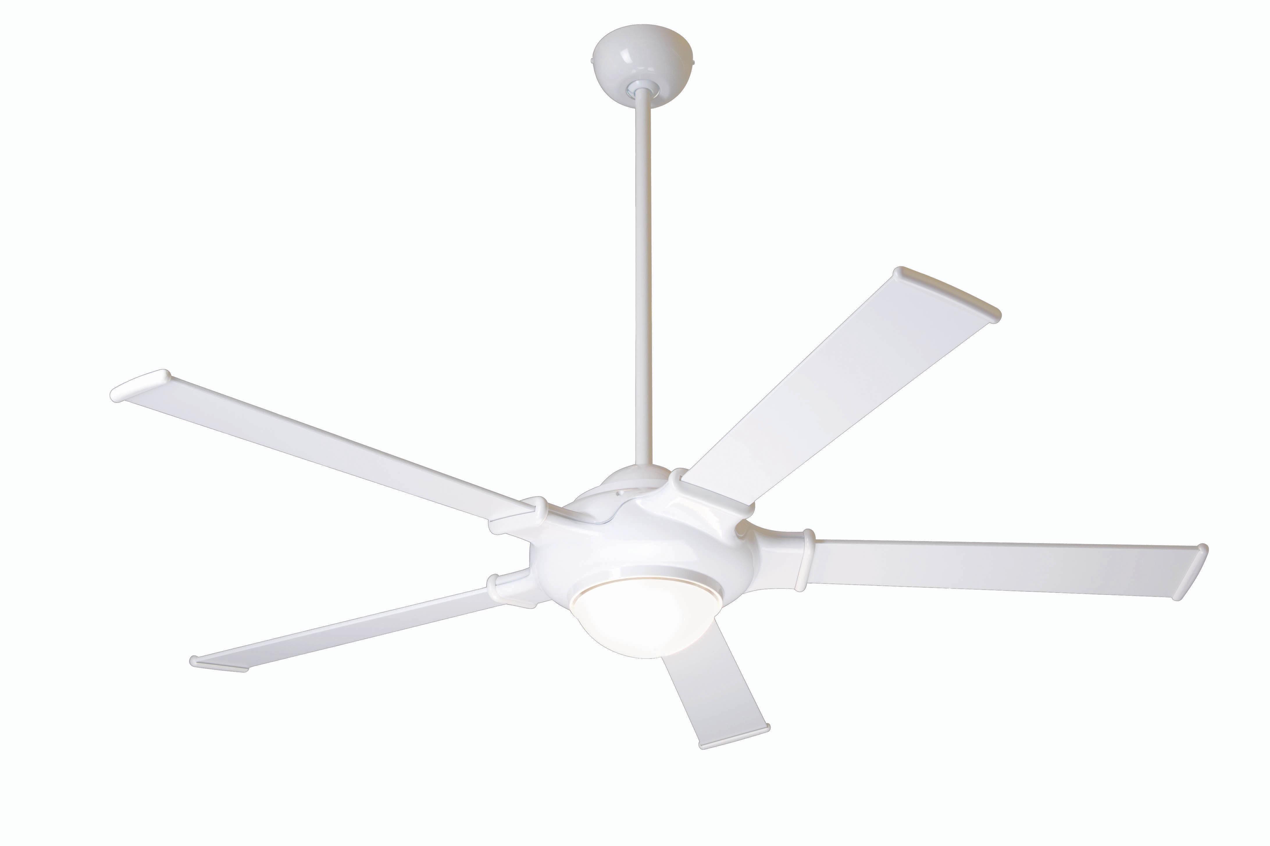 Modern fan company ufo gw 52 wh 004 ufo gloss white Modern white ceiling fan