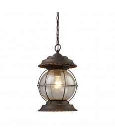 ELK Lighting 08170-BB Manchester 1 Light Outdoor Pendant in Burnt Bronze