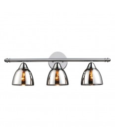ELK Lighting 10072/3 Reflections 3 Light Vanity in Polished Chrome