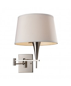 ELK Lighting 10108/1 Swingarm 1 Light Sconce in Polished Chrome