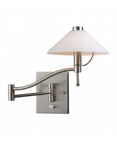 ELK Lighting 10112/1 Swingarm 1 Light Sconce in Satin Nickel