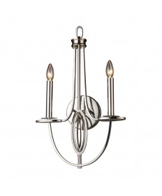 ELK Lighting 10113/2 Dione 2 Light Sconce in Polished Nickel