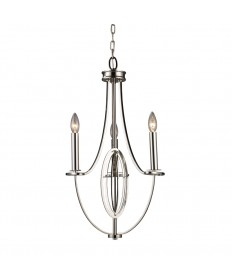 ELK Lighting 10120/3 Dione 3 Light Chandelier in Polished Nickel