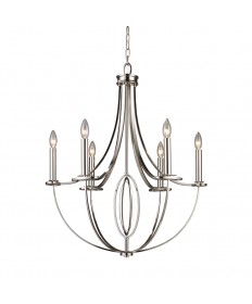 ELK Lighting 10121/6 Dione 6 Light Chandelier in Polished Nickel