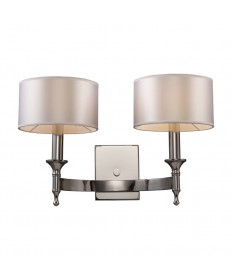ELK Lighting 10122/2 Pembroke 2 Light Sconce in Polished Nickel