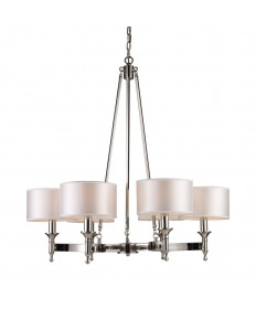 ELK Lighting 10123/6 Pembroke 6 Light Chandelier in Polished Nickel