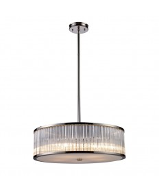 ELK Lighting 10129/5 Braxton 5 Light Pendant in Polished Nickel