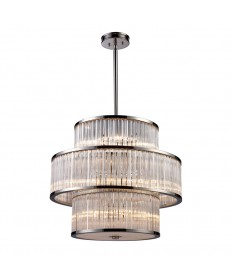 ELK Lighting 10130/5+5+5 Braxton 15 Light Pendant in Polished Nickel