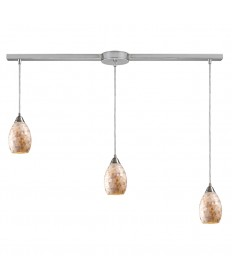 ELK Lighting 10141/3L Capri 3 Light Pendant in Satin Nickel