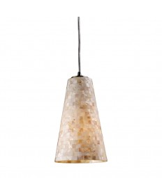 ELK Lighting 10142/1 Capri 1 Light Pendant in Satin Nickel