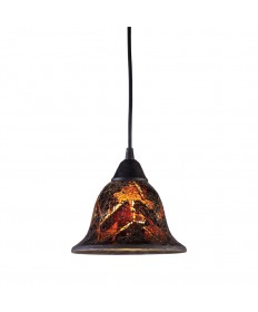 ELK Lighting 10144/1FS Firestorm 1 Light Pendant in Dark Rust