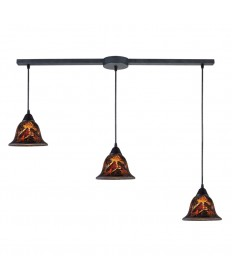 ELK Lighting 10144/3L-FS Firestorm 3 Light Pendant in Dark Rust