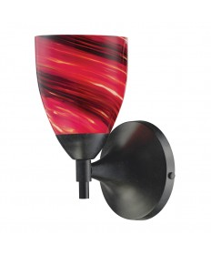 ELK Lighting 10150/1DR-A Celina 1 Light Sconce in Dark Rust with Autumn Glass