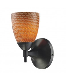 ELK Lighting 10150/1DR-C Celina 1 Light Sconce in Dark Rust with Coco Glass