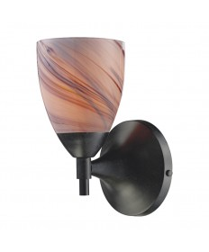 ELK Lighting 10150/1DR-CR Celina 1 Light Sconce in Dark Rust with Creme Glass