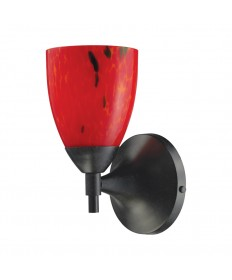 ELK Lighting 10150/1DR-FR Celina 1 Light Sconce in Dark Rust and Fire Red Glass