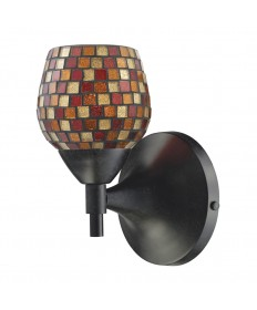 ELK Lighting 10150/1DR-MLT Celina 1 Light Sconce in Dark Rust with Multi Fusion Glass