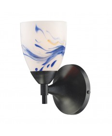 ELK Lighting 10150/1DR-MT Celina 1 Light Sconce in Dark Rust and Mountain Glass