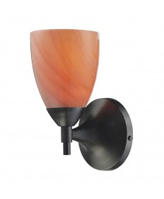 ELK Lighting 10150/1DR-SY Celina 1 Light Sconce in Dark Rust with Sandy Glass
