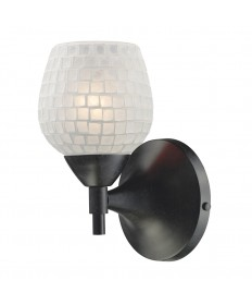 ELK Lighting 10150/1DR-WHT Celina 1 Light Sconce in Dark Rust with White Glass