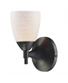 ELK Lighting 10150/1DR-WS Celina 1 Light Sconce in Dark Rust with White Swirl Glass