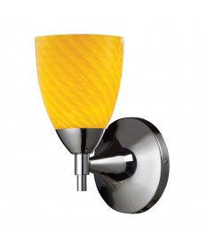 ELK Lighting 10150/1PC-CN Celina 1 Light Sconce in Polished Chrome with Canary Glass