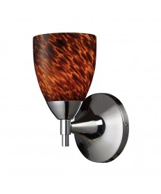 ELK Lighting 10150/1PC-ES Celina 1 Light Sconce in Polished Chrome and Espresso Glass