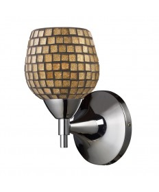 ELK Lighting 10150/1PC-GLD Celina 1 Light Sconce in Polished Chrome and Gold Glass
