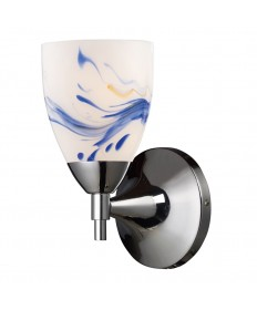 ELK Lighting 10150/1PC-MT Celina 1 Light Sconce in Polished Chrome and Mountain Glass