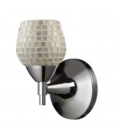 ELK Lighting 10150/1PC-SLV Celina 1 Light Sconce in Polished Chrome with Silver Glass